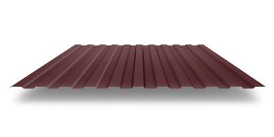 Профильный лист С-8 (0,45) Коричневый (rall8017)  матовый